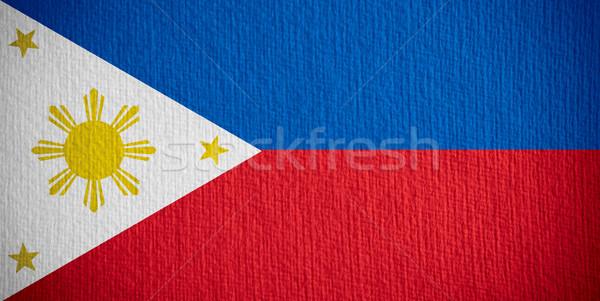 Bayrak Filipinler afiş kâğıt Stok fotoğraf © MiroNovak