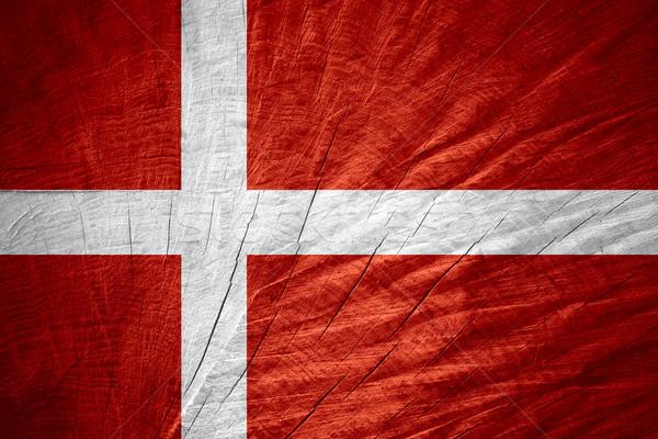 флаг Дания баннер текстуры Сток-фото © MiroNovak