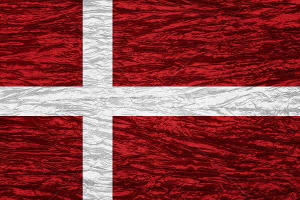 Zászló Dánia szalag vászon textúra Stock fotó © MiroNovak