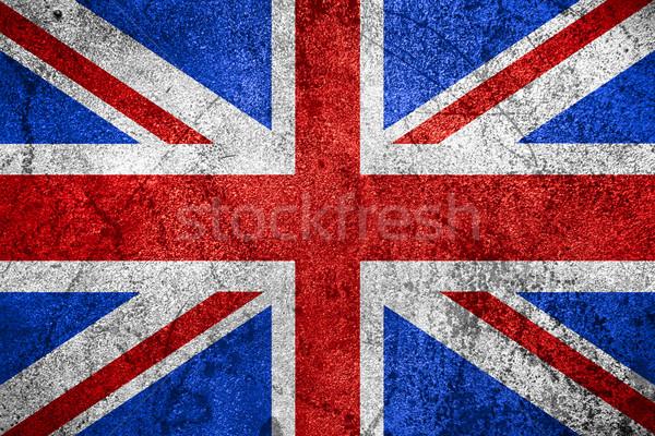 Bayrak Büyük Britanya büyük britanya afiş kaba Metal Stok fotoğraf © MiroNovak