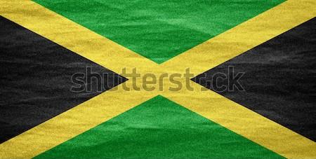 Bandeira Jamaica bandeira lona textura fundo Foto stock © MiroNovak