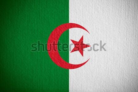 Bandeira Argélia bandeira papel textura Foto stock © MiroNovak