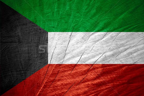 Bandeira Kuweit bandeira textura Foto stock © MiroNovak