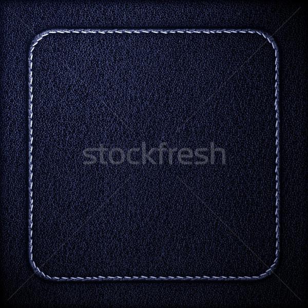 Niebieski skóry ziarnisty szary tekstury tle Zdjęcia stock © MiroNovak