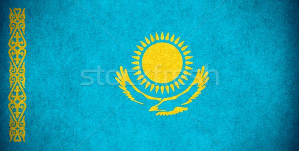 флаг Казахстан баннер бумаги грубо шаблон Сток-фото © MiroNovak