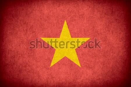 Pavillon Viêt-Nam bannière papier rêche modèle Photo stock © MiroNovak