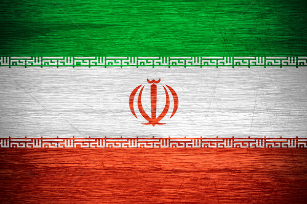 Irán zászló iráni szalag fából készült textúra Stock fotó © MiroNovak