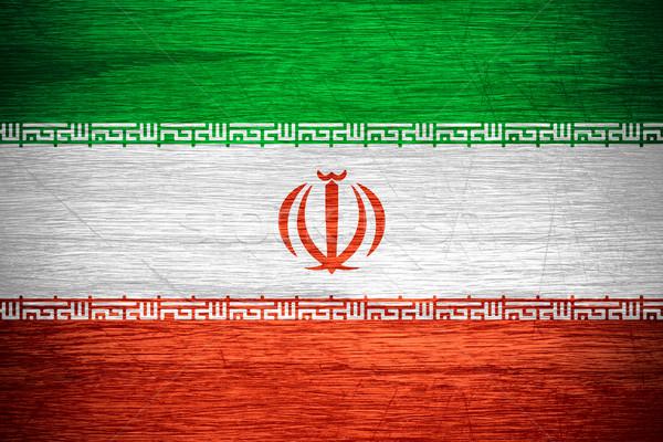 Иран флаг иранский баннер текстуры Сток-фото © MiroNovak