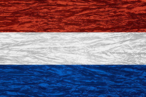 Bandiera Holland banner tela texture Foto d'archivio © MiroNovak