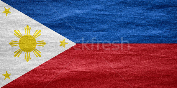 Bayrak Filipinler afiş tuval doku arka plan Stok fotoğraf © MiroNovak