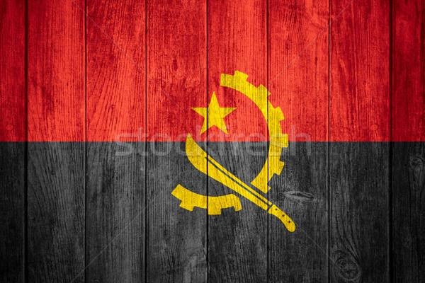 флаг Ангола африканских баннер текстуры Сток-фото © MiroNovak