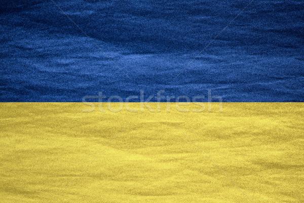 Zászló Ukrajna szalag vászon durva minta Stock fotó © MiroNovak
