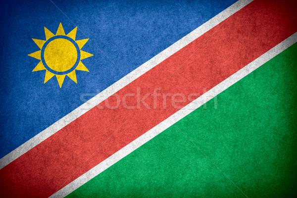 Zászló Namíbia szalag papír durva minta Stock fotó © MiroNovak
