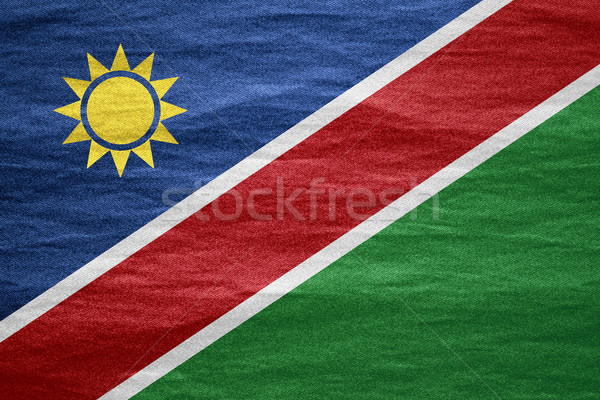 флаг Намибия баннер холст текстуры фон Сток-фото © MiroNovak