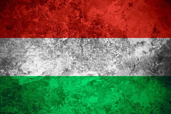 Bandeira Hungria húngaro bandeira vintage textura do metal Foto stock © MiroNovak