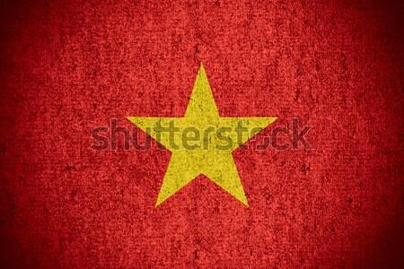 Vlag Vietnam banner ruw patroon textuur Stockfoto © MiroNovak