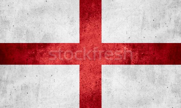 Bandiera Inghilterra english banner grezzo pattern Foto d'archivio © MiroNovak