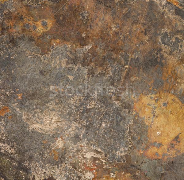 brown rust metal background Stock photo © MiroNovak