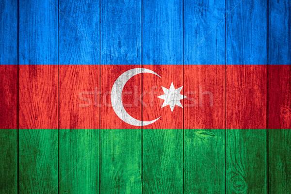 Bandera Azerbaiyán banner textura fondo Foto stock © MiroNovak
