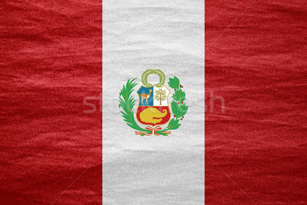 Zászló Peru szalag vászon textúra háttér Stock fotó © MiroNovak