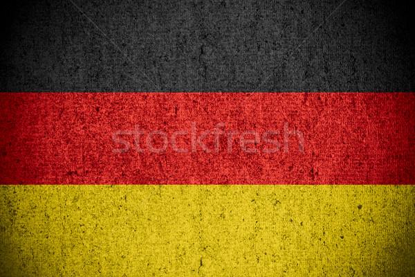 Bandeira Alemanha bandeira áspero padrão textura Foto stock © MiroNovak