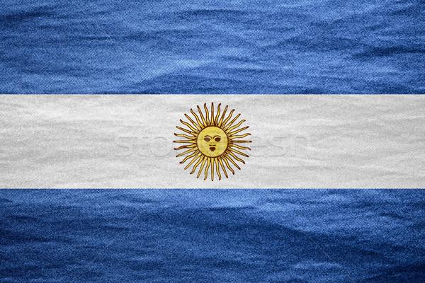 Stock fotó: Zászló · Argentína · argentín · szalag · vászon · textúra