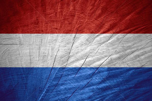 Bandeira holandês holandês bandeira textura Foto stock © MiroNovak