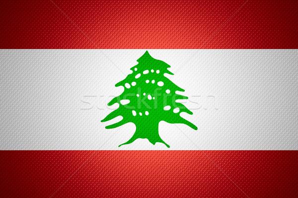 Zászló Libanon szalag absztrakt textúra Stock fotó © MiroNovak