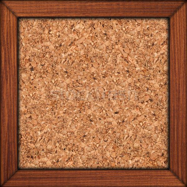 Dugó barna fakeret durva textúra keret Stock fotó © MiroNovak