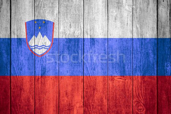 флаг Словения баннер текстуры фон Сток-фото © MiroNovak