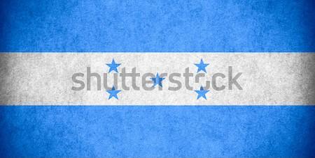 флаг Гондурас баннер бумаги грубо шаблон Сток-фото © MiroNovak