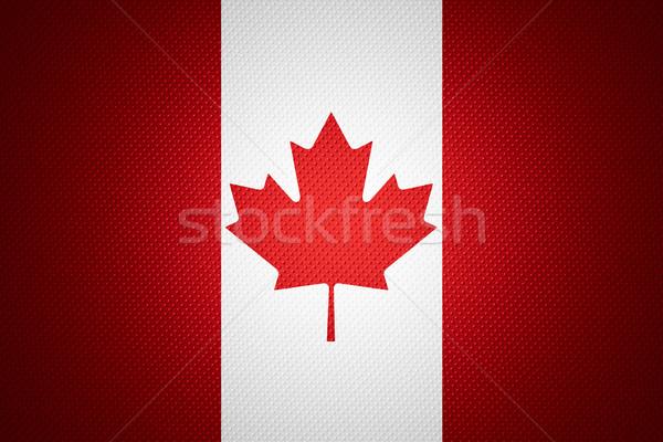 Bandeira Canadá bandeira abstrato textura Foto stock © MiroNovak