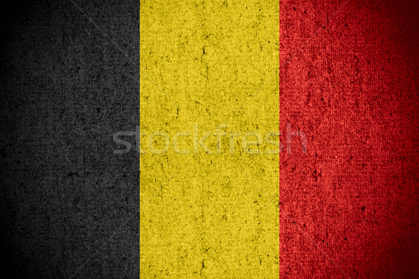 Bayrak Belçika afiş kaba model doku Stok fotoğraf © MiroNovak