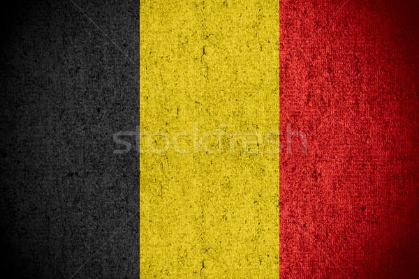 Bandeira Bélgica bandeira áspero padrão textura Foto stock © MiroNovak