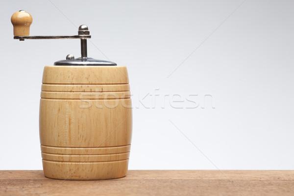木製 コショウひき 白 右 サイド ストックフォト © MiroNovak