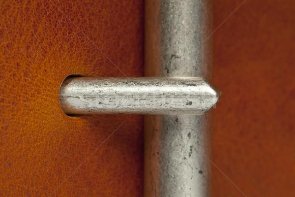 closeup of belt clasp Stock photo © MiroNovak