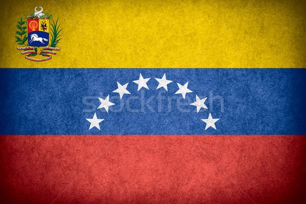 Vlag Venezuela banner papier ruw patroon Stockfoto © MiroNovak