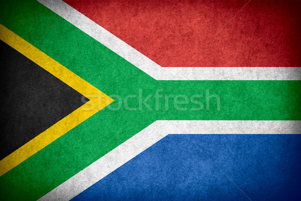 Bandeira África do Sul bandeira papel áspero padrão Foto stock © MiroNovak