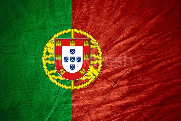 フラグ ポルトガル バナー 木製 テクスチャ ストックフォト © MiroNovak