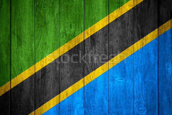 Bandeira Tanzânia bandeira textura fundo Foto stock © MiroNovak
