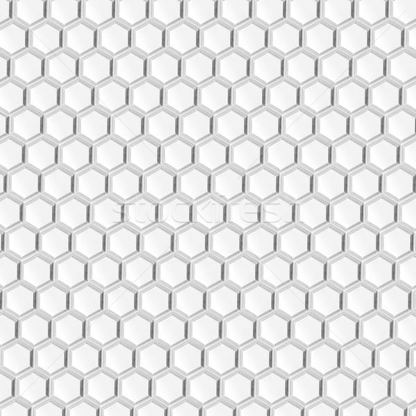 Honingraat witte zeshoek abstract grijs textuur Stockfoto © MiroNovak