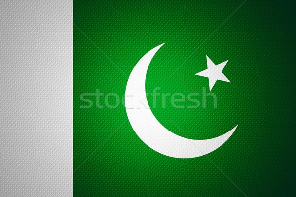 Zászló Pakisztán pakisztáni szalag absztrakt textúra Stock fotó © MiroNovak