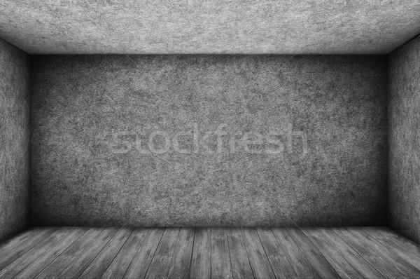 üres szoba színpad fából készült szürke padló textúra Stock fotó © MiroNovak