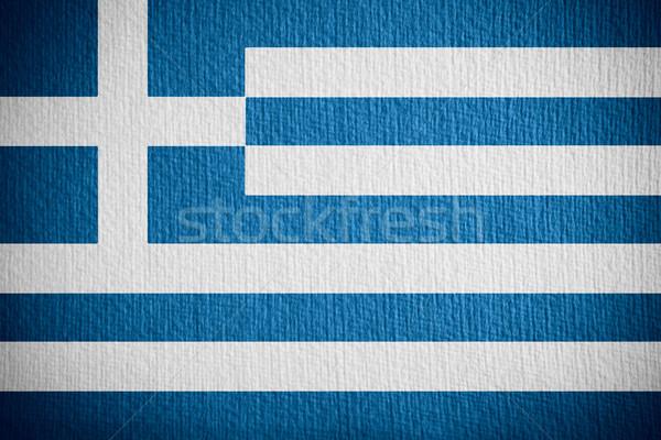 Bandeira Grécia grego bandeira papel Foto stock © MiroNovak