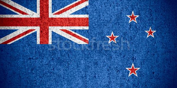 флаг Новая Зеландия баннер грубо шаблон текстуры Сток-фото © MiroNovak