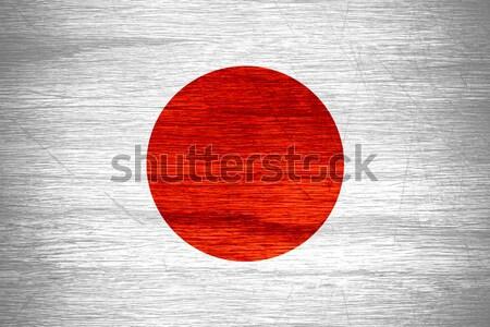 Japán zászló japán szalag fából készült textúra Stock fotó © MiroNovak