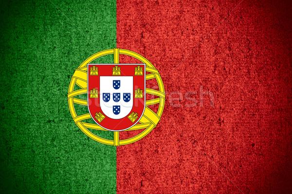 Zászló Portugália szalag durva minta textúra Stock fotó © MiroNovak