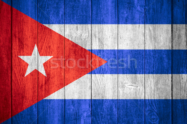 Pavillon Cuba bannière bois texture Photo stock © MiroNovak