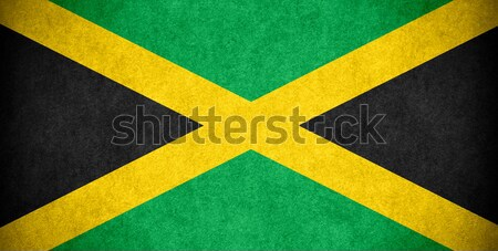 Bandera Jamaica banner papel áspero patrón Foto stock © MiroNovak