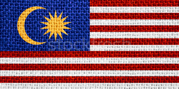 Vlag Maleisië banner textuur Stockfoto © MiroNovak